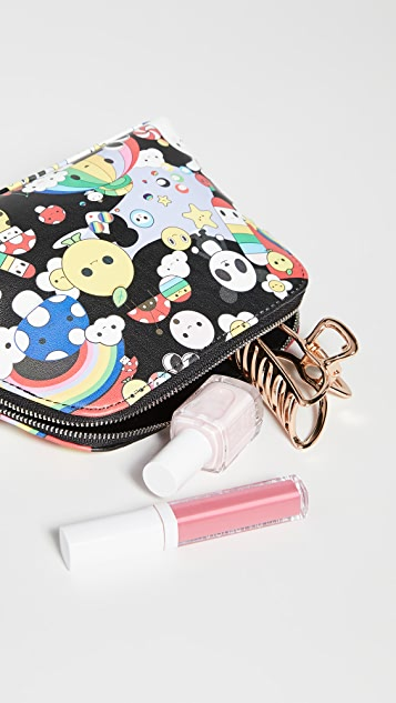 alice + olivia x FriendsWithYou Nikki Printed Cosmetic Case