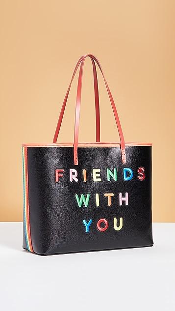 alice + olivia Большая объемная сумка Friends With You x Alice + Olivia Missy Perfect с короткими ручками