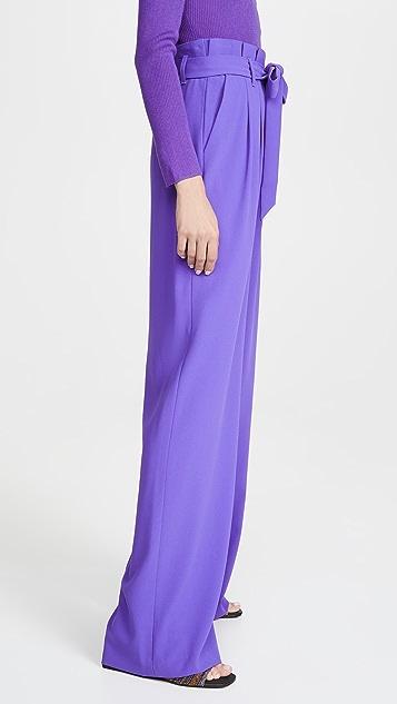 alice + olivia Farrel 纸袋裥褶长裤