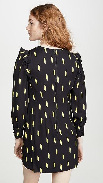 alice + olivia Beatrix 泡泡袖直筒连衣裙