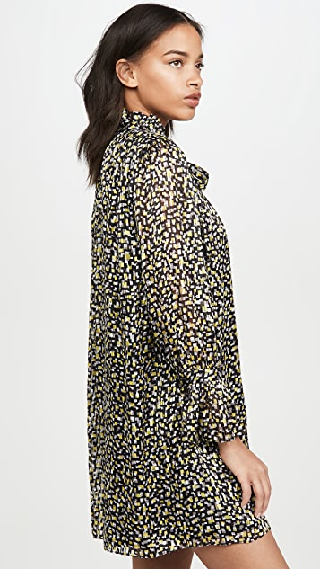 alice + olivia Rei 有领荷叶边连衣裙