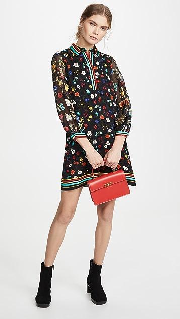 alice + olivia Lalita 衣领宽松束口袖连衣裙