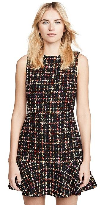 alice + olivia Sonny Ruffle Dress - Black Multi