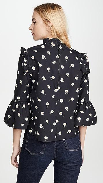 alice + olivia Henrietta 荷叶边宽松女式衬衫