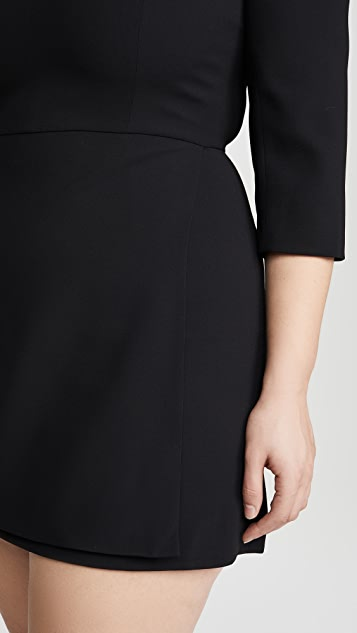 alice + olivia Stevie Double Layer Dress