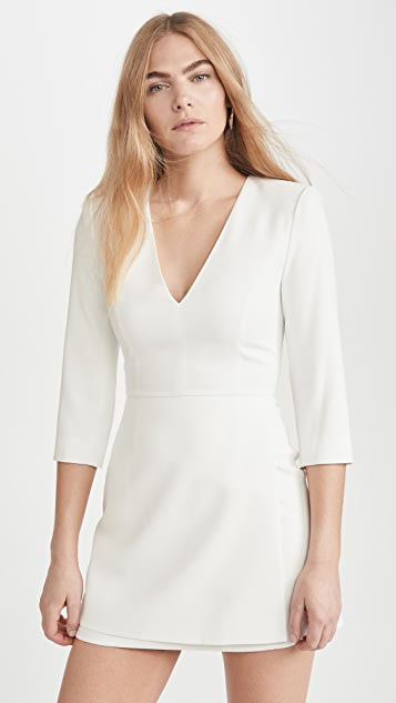 alice + olivia Stevie Double Layer Dress