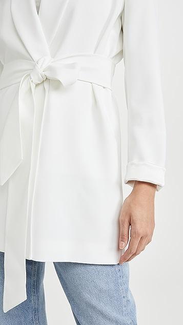 alice + olivia Wheaton 围巾式领裹身西装外套