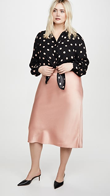 alice + olivia Maeve Slip Skirt