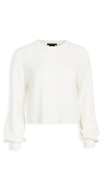 alice + olivia Ansley Crop Cashmere Pullover