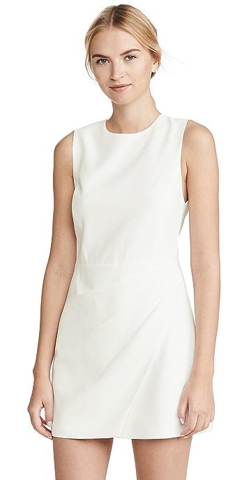 alice + olivia Kelsey Asymmetric Drape Dress - Off White
