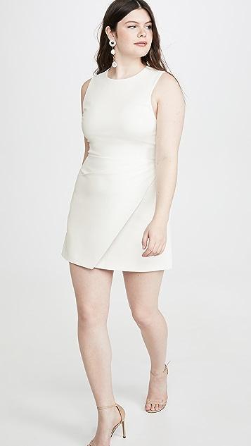 alice + olivia Kelsey 不对称垂褶连衣裙
