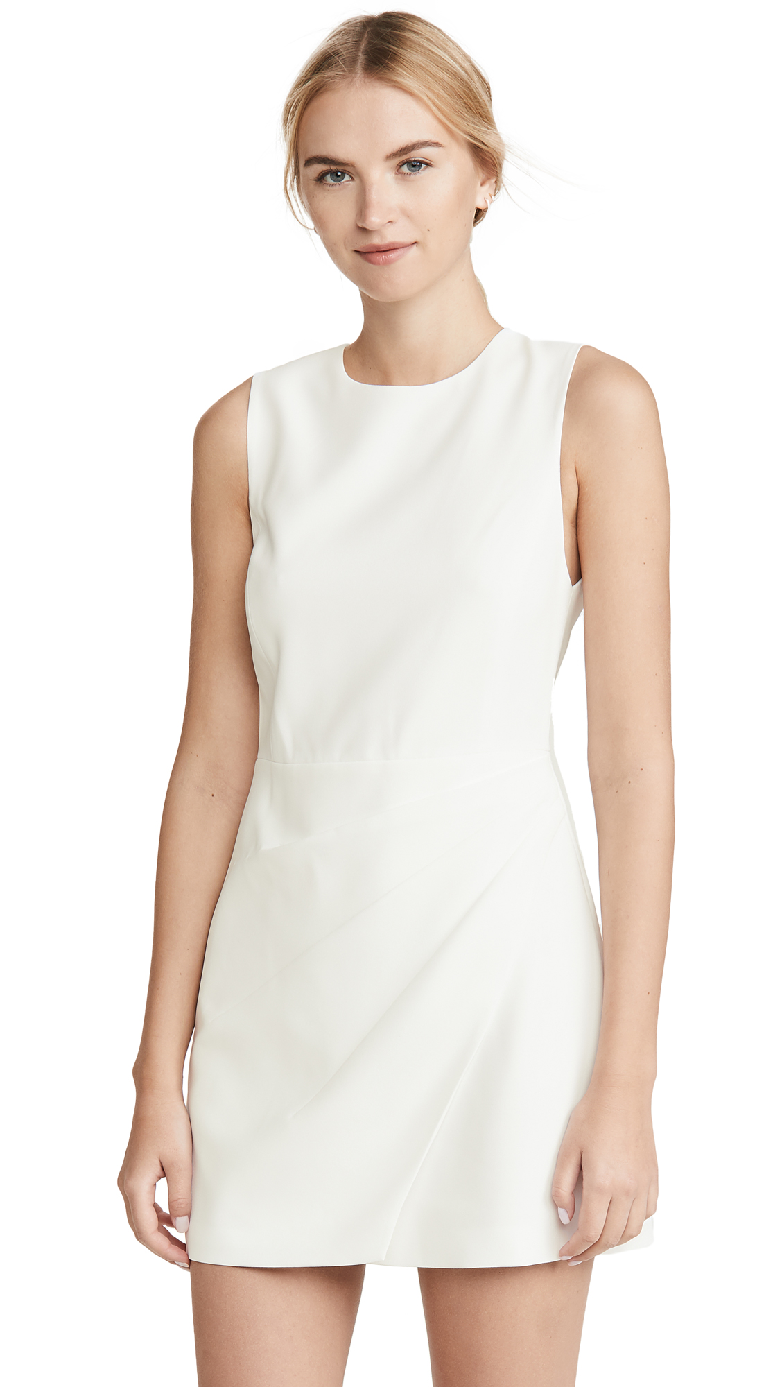 alice + olivia Kelsey Asymmetric Drape Dress
