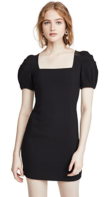 alice + olivia Rachel Puff Sleeve Mini Dress
