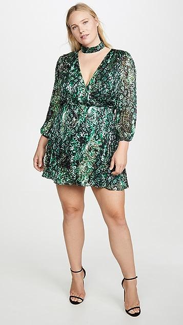 alice + olivia Платье Rita со свободными рукавами и съемным воротником под горло