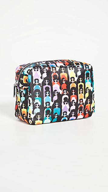 alice + olivia Carol Nylon Cosmetic Bag