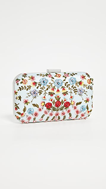 alice + olivia Embellished Shirley Clutch