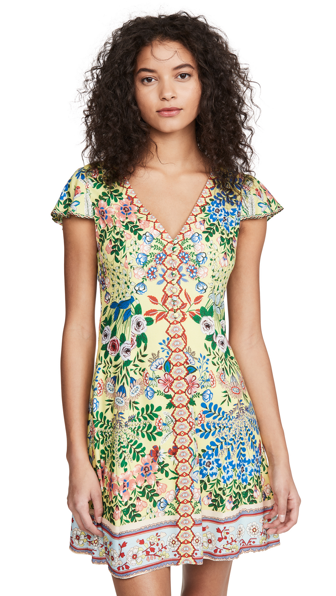 alice + olivia Hadley Button Fit Flare Dress
