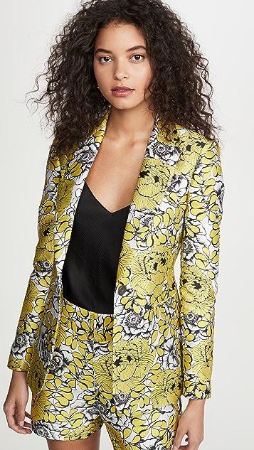 alice + olivia Macey Notch Collar Fitted Blazer