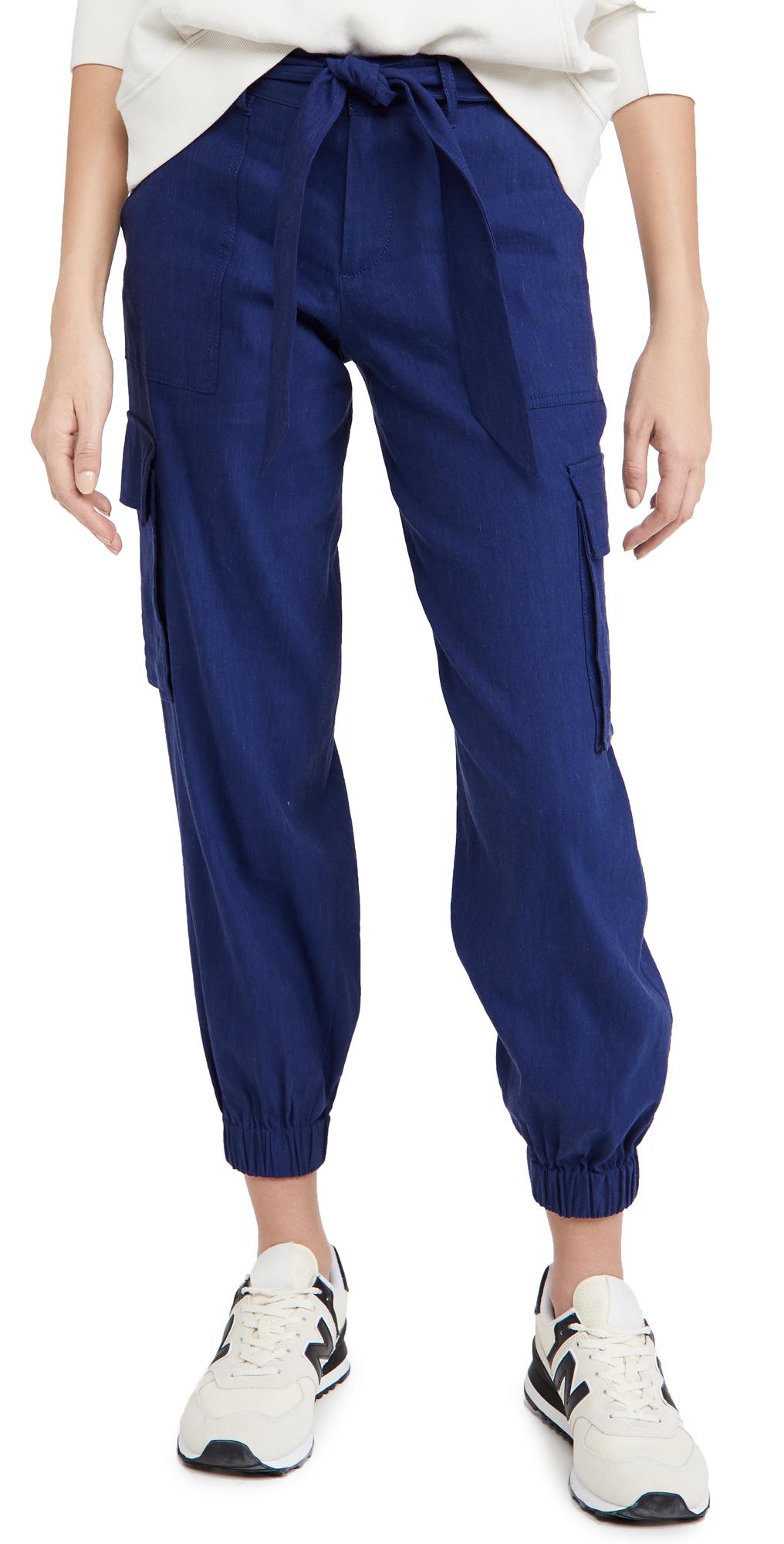 alice + olivia Verla Belted Slim Cargo Pants