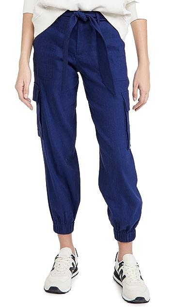 alice + olivia Verla 系带修身工装裤