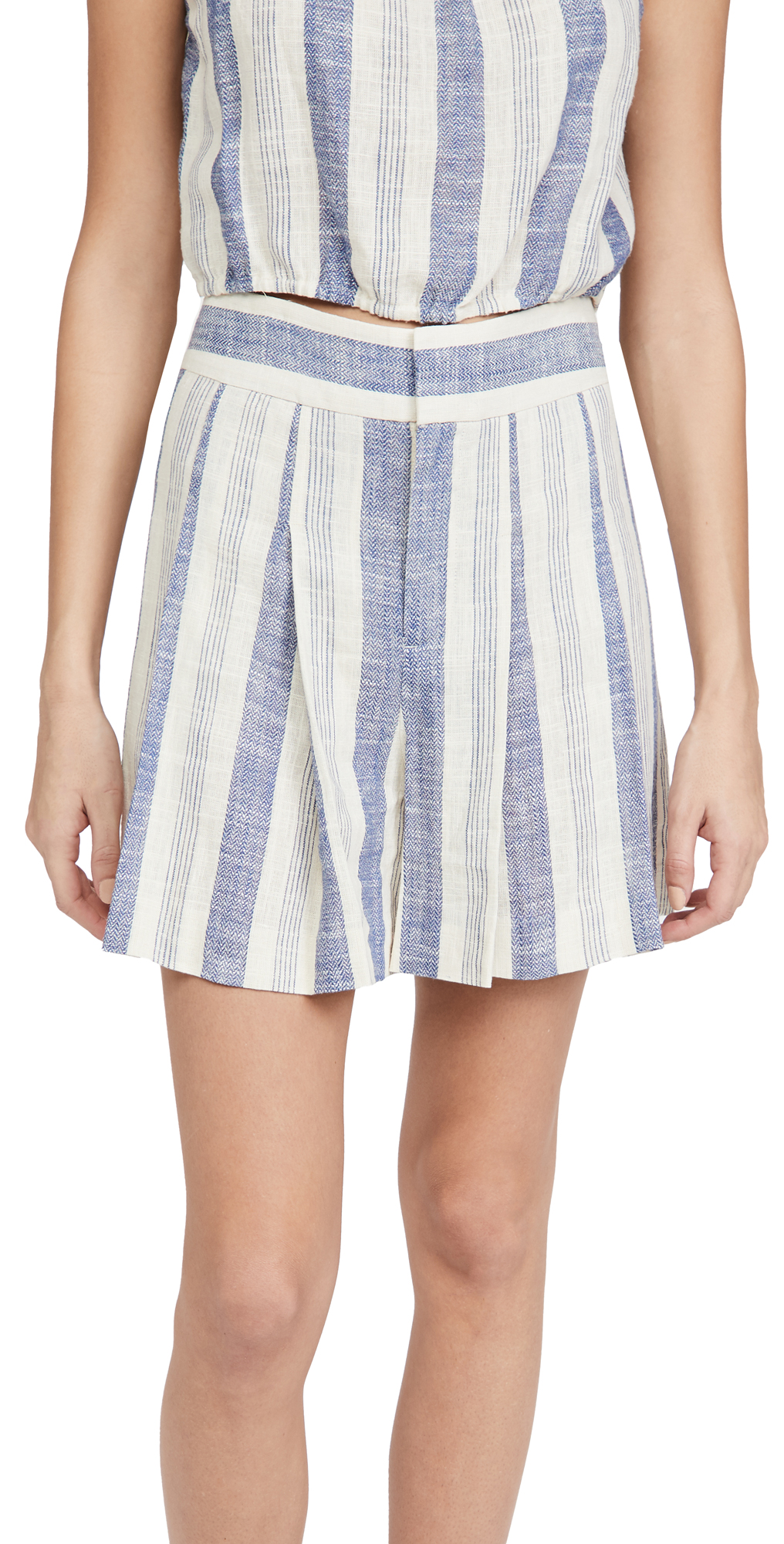alice + olivia Scarlet Clean Waistband Flutter Shorts