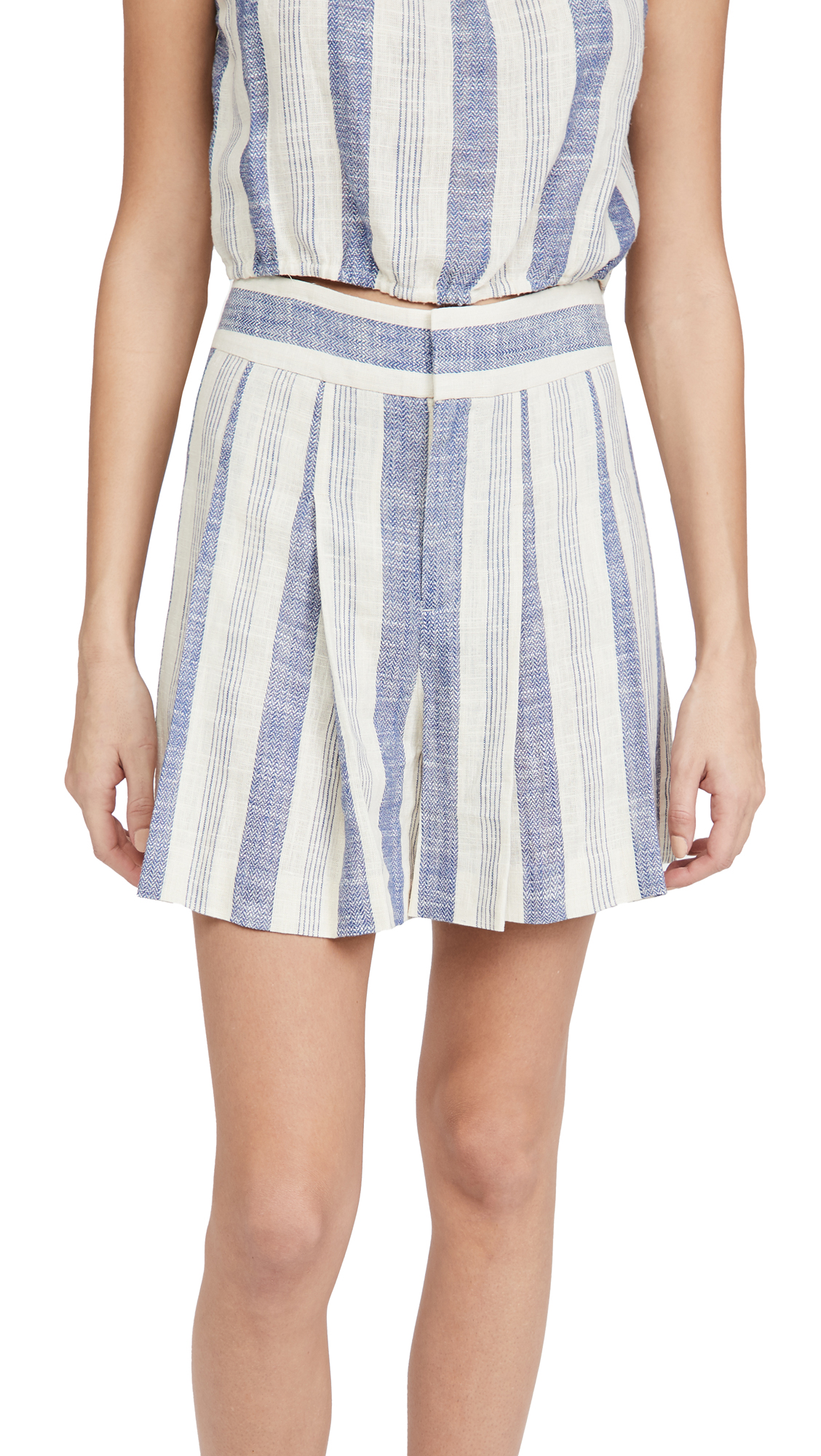 alice + olivia Scarlet Clean Waistband Flutter Shorts