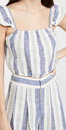 alice + olivia - Celestia 荷叶袖宽松束口中长版型上衣