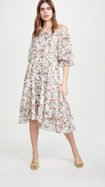 alice + olivia Miora 分层裙身高低不对称下摆连衣裙