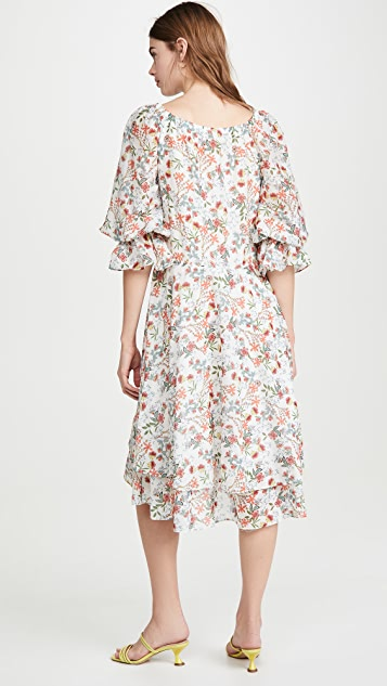 alice + olivia Miora Layered Skirt High Low Dress
