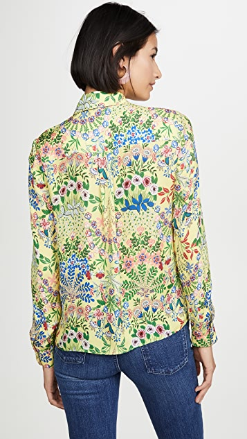 alice + olivia Willa 系扣衬衣