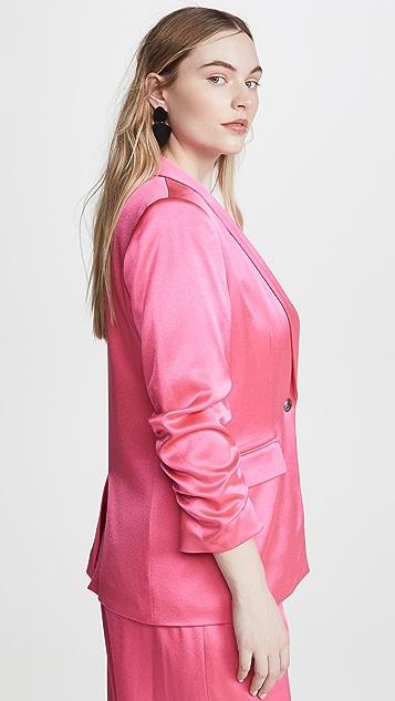 alice + olivia Sebastian Scrunch Sleeve Blazer