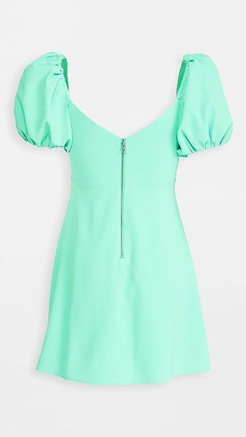alice + olivia Dana 泡泡袖喇叭连衣裙