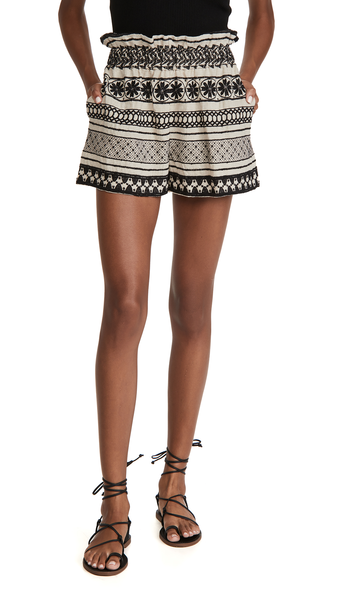 alice + olivia Matthew Paper Bag Shorts