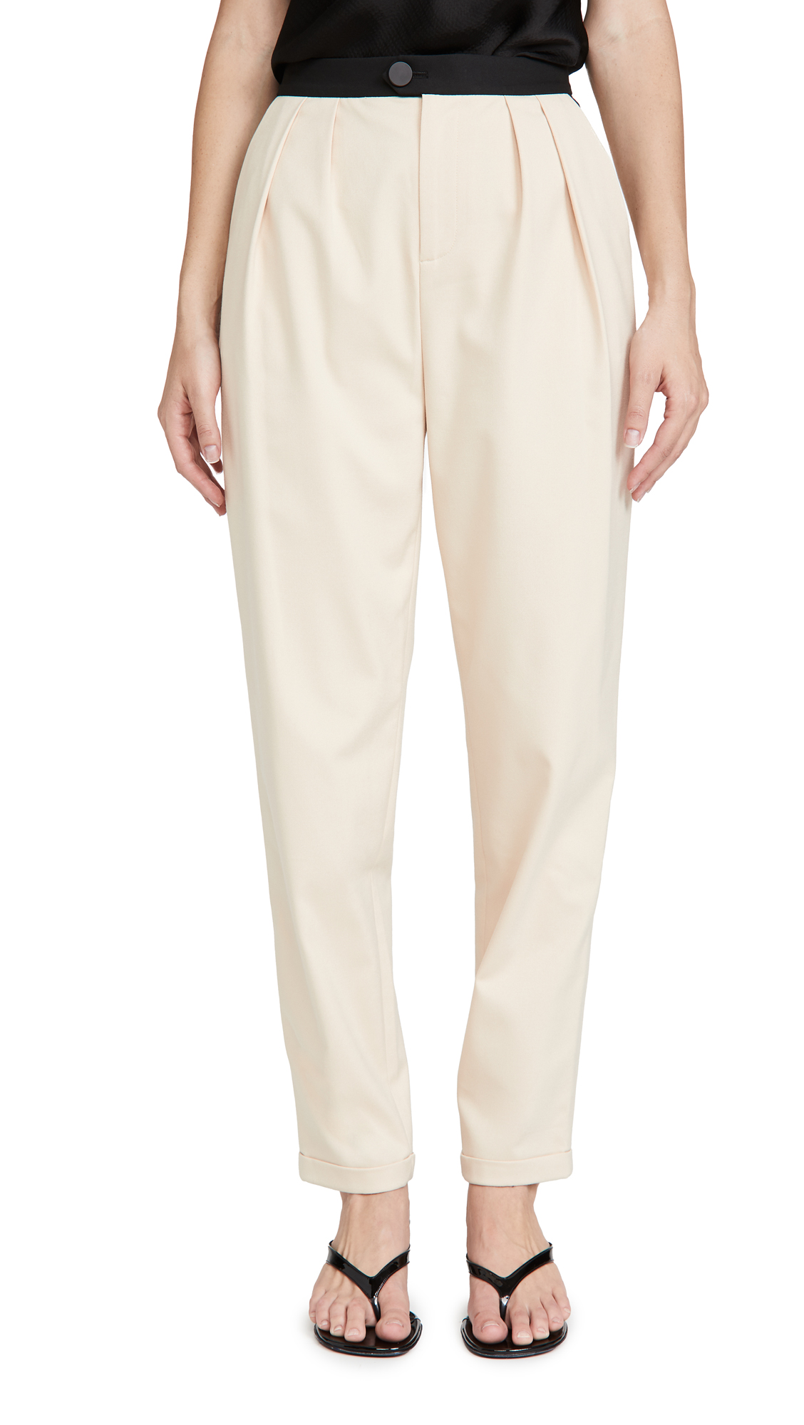 alice + olivia Roy Pleat Carrot Pants