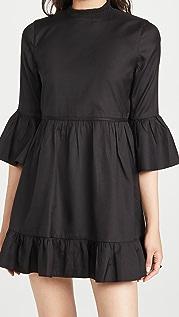 alice + olivia Aislyn Flutter Sleeve Tiered Mini Dress