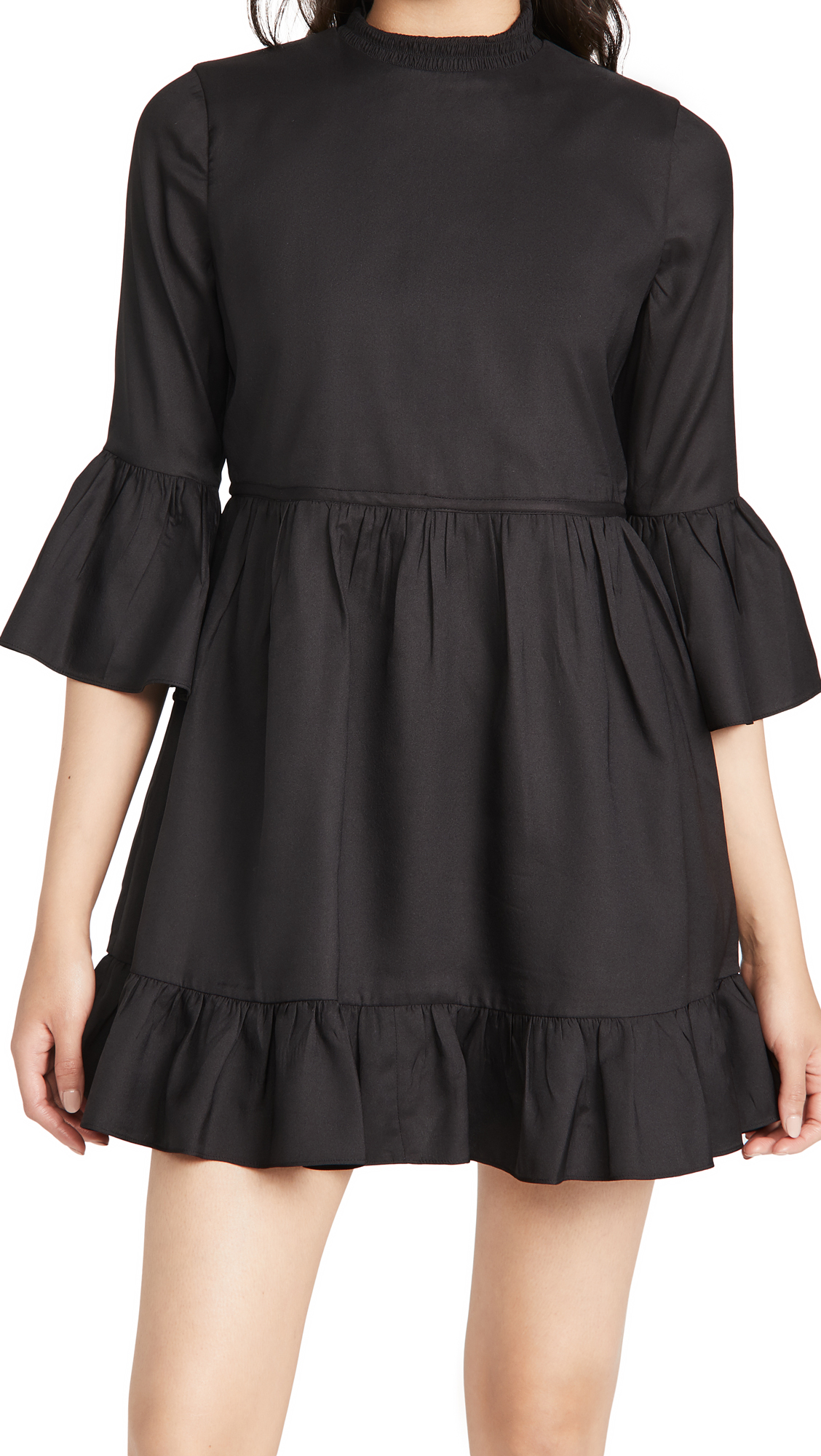 alice + olivia Aislyn Flutter Sleeve Tiered Mini Dress
