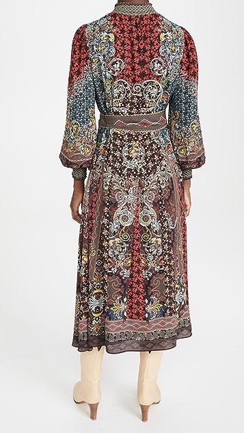 alice + olivia Brielle Button Down Kimono Dress