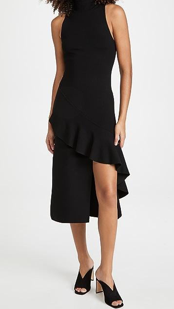 alice + olivia Angelia 双面针织荷叶边连衣裙
