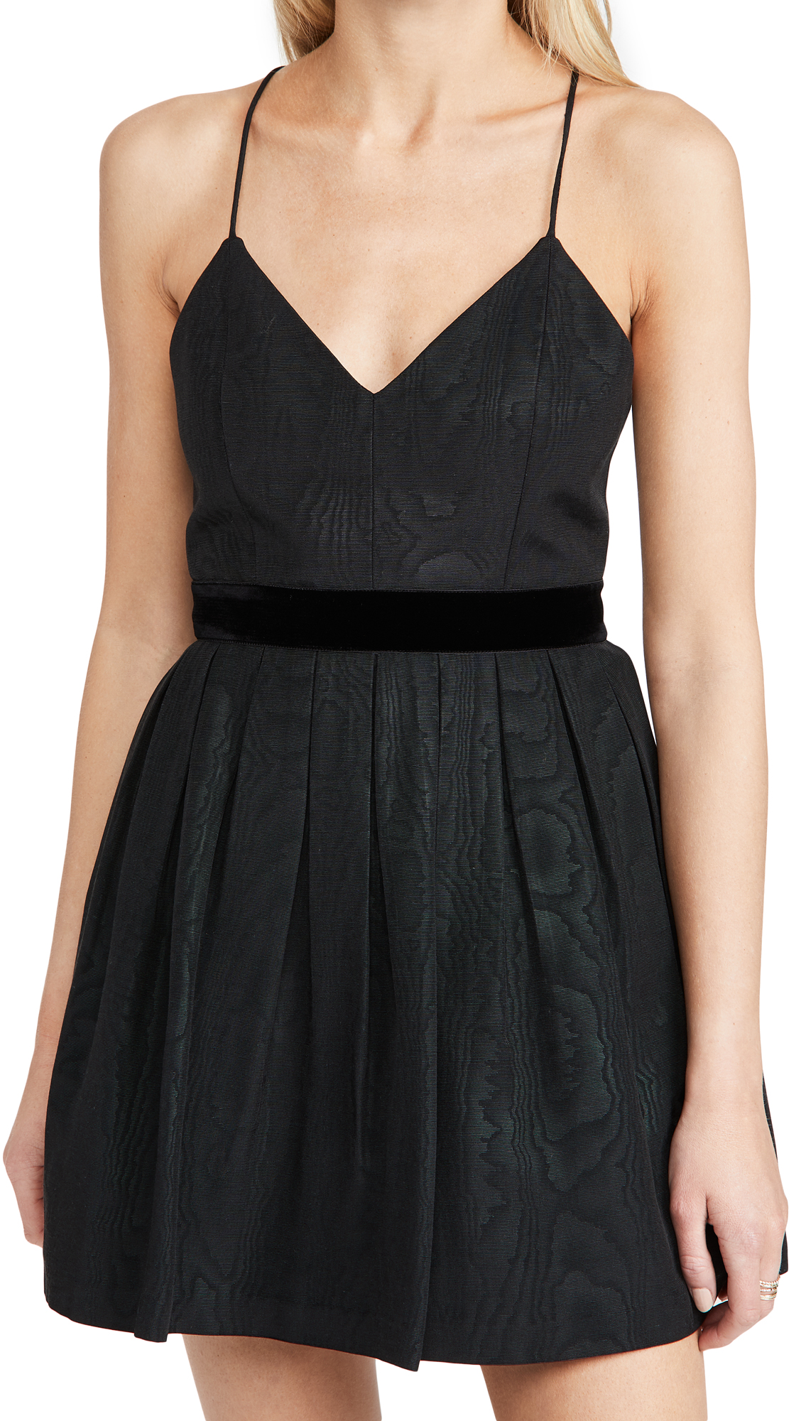 alice + olivia Madison Pleated Ski Mini Dress