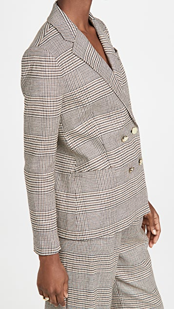 alice + olivia Bergen 双排扣宽松西装外套