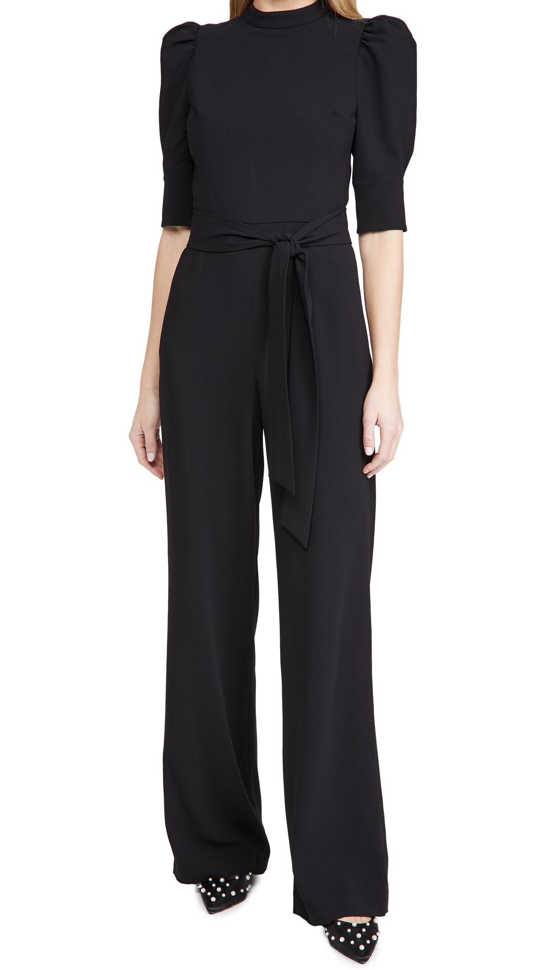 alice + olivia Alexis Mock Neck Jumpsuit