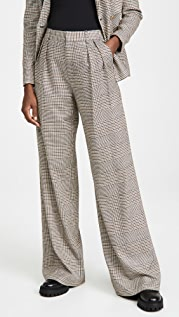 alice + olivia Eric High Waist Pleated Pants