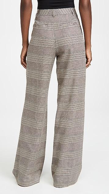 alice + olivia Eric High Waist Pleated Pants