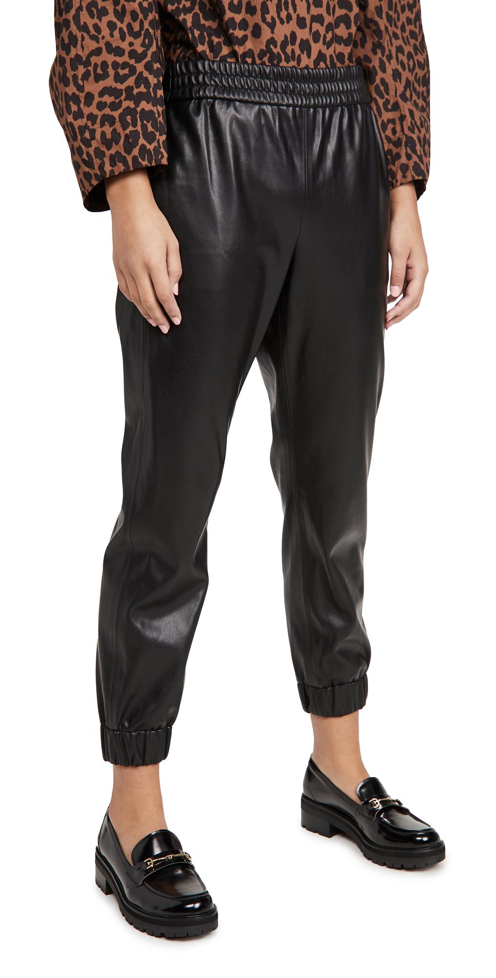 alice + olivia Pete Vegan Leather Pants