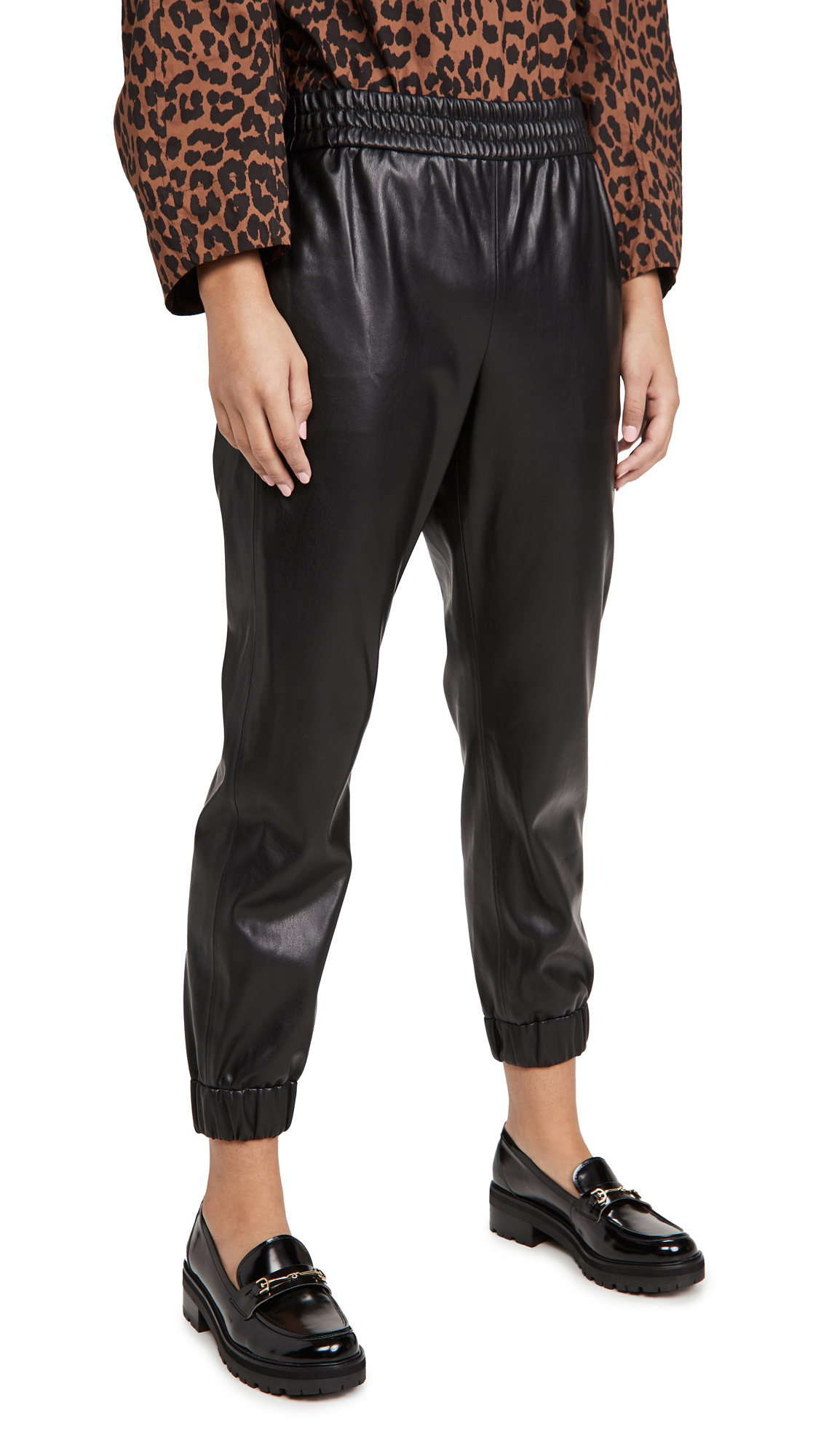 alice + olivia Pete Vegan Leather Pants