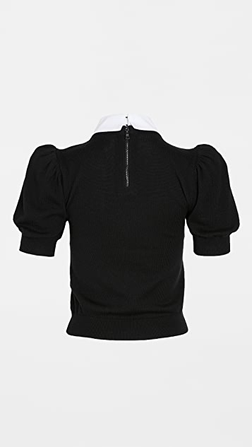 alice + olivia Chase Sweater with Detachable Collar