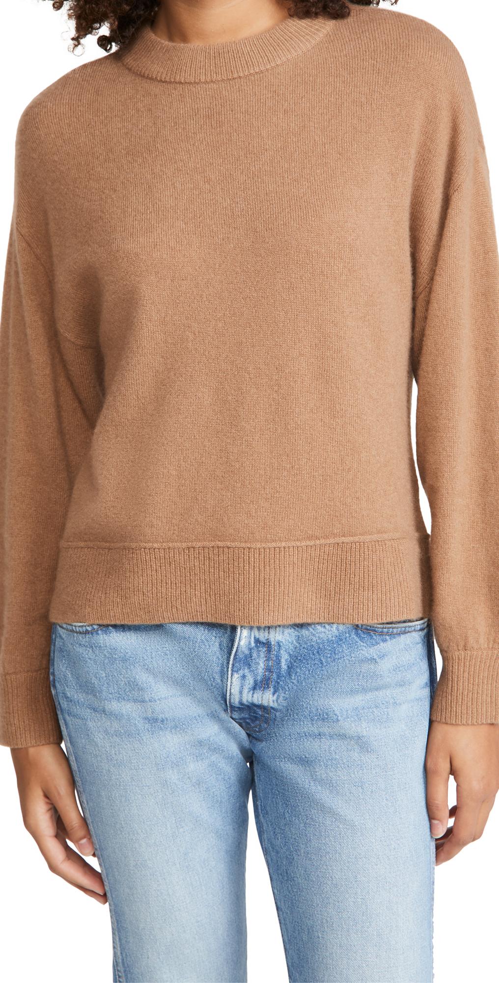 alice + olivia Denver Round Hem Cashmere Sweater