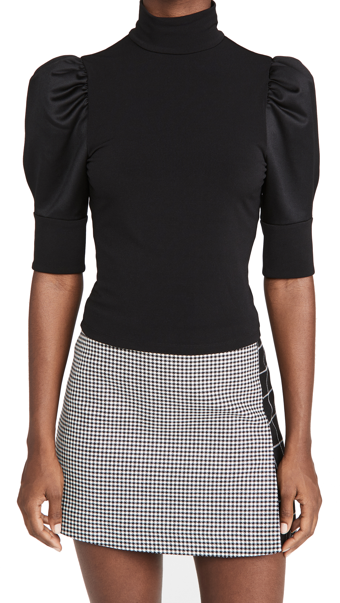 alice + olivia Mckayla Turtleneck Crop Top