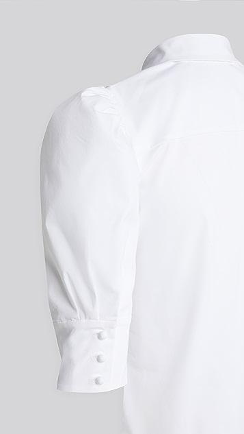alice + olivia Willa Scrunched 泡泡袖上衣