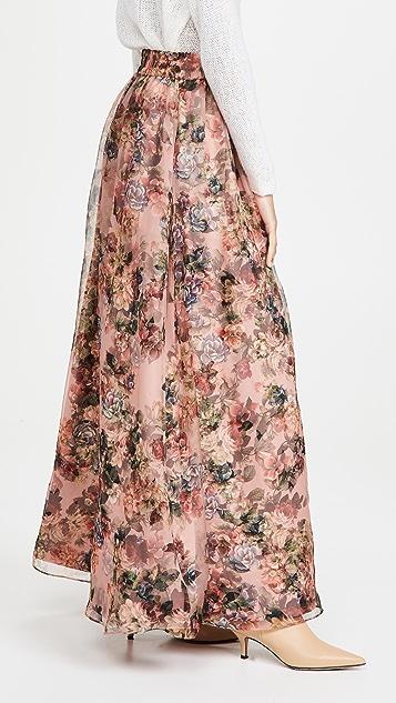 alice + olivia Dixie 裙裾抽绳礼服式半身裙